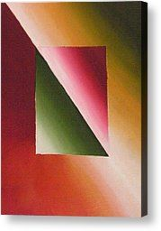 Abstract Geometric Shapes Painting Canvas Prints - Illuminated Canvas Print by Tami Bush