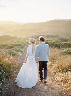 Romantic Australian Engagement from Jose Villa on oncewed.com