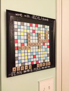 DIY Words With Friends Scrabble Magnetic Board - Charleston Crafted