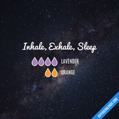 Inhale, Exhale, Sleep - Essential Oil Diffuser Blend