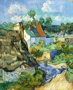 Vincent van Gogh Houses at Auvers painting for sale, this painting is available as handmade reproduction. Shop for Vincent van Gogh Houses at Auvers painting and frame at a discount of off. Art Van, Van Gogh Art, Vincent Van Gogh, Desenhos Van Gogh, Van Gogh Pinturas, Kunst Online, Van Gogh Paintings, Paintings Online, Van Gogh Museum
