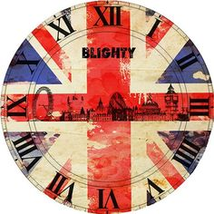 RELOJ VINTAGE Union Jack, Clock Face Printable, Face Template, Diy Clock, Altered Art, Altered Images, Stencils, Printables, Antiques