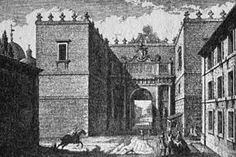 The first statements of this institution, that was in effect at least until the beginning of the 15th century,[2] date back to the 5th century. In the 9th century (when the Popes, clashing with the Municipality of Rome, held the administrative control on the duties of almost all the gates) Pope Sergius II granted the proceeds of the toll of the Porta Flaminia to the cloister of San Silvestro in Capite.