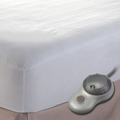 The Sunbeam Quilted Heated Twin Mattress Pad features an exclusive wiring system that senses temperature variances and adjusts throughout the blanket to allow f