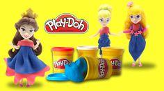 Playdoh Disney princess dresses - Princess Bella Aurora Cinderella - Eps...