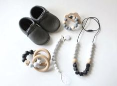 The perfect baby shower gift! We love the monochrome design, perfect for a gender neutral gift! Baby Shower Gifts, Baby Gifts, Teething Necklace, Chipmunks, Baby Essentials, Baby Gear, Gender Neutral, Baby Toys, Monochrome
