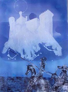 One of Luis Scafati's illustrations for 'Don Quixote'.  http://www.luisscafati.com.ar/dibujosquijote.html#