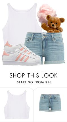 """I want to go to a REAL carnival"" by mickey733 ❤ liked on Polyvore featuring Paige Denim and adidas Originals"