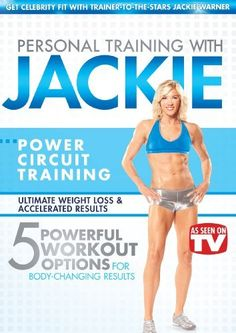 Personal Training with Jackie Warner Power Circuit Training - 5 Powerful Workout Options for Body-changing Results Workout Dvds, Workout Videos, Exercise Videos, Workout Gear, Jackie Warner, Cardio Training, Body Training, Muscle Training, Training Videos