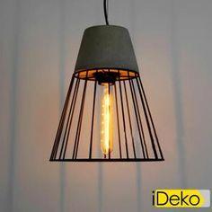 Lustre Et Suspension iDeko® Lampe de Salon Art design Industriel à écla