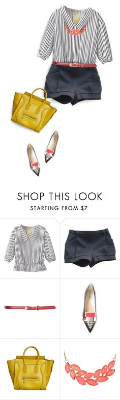 """Something New! Contest, Enter! *Outfit Only*"" by kearalachelle ❤ liked on Polyvore featuring Relaxfeel, Chloé, Dorothy Perkins, Pollini, CÉLINE and Ruby Rocks"