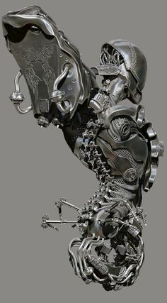 amazing anatomy imagined mechanically, in digital 3D by Dajjal @ ZBrushCentral  http://www.zbrushcentral.com/showthread.php?171582-Dajjal=988989=1#post988989
