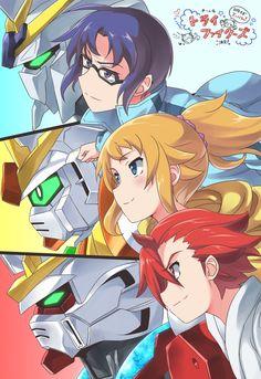 Gundam Build Fighters Try Gundam Build Fighters Try, Iron Fortress, Strike Gundam, Naruto The Movie, Gundam Wallpapers, Gundam 00, My Little Monster, Naruto Cosplay, Custom Gundam