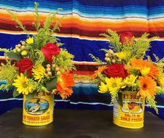 Fiesta Decor: Set of 6 Large El Pato Cans | Etsy