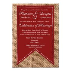 ReviewCountry Burlap Print Red Rustic Wedding Invitation Custom InvitesYes I can say you are on right site we just collected best shopping store that have