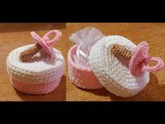 crochet tutorial for baby ♥ Baby Shower Souvenirs, Baby Shower Favors, Crochet Box, Crochet For Kids, Baby Shawer, Baby Boy Gifts, Crochet Videos, Crochet Accessories, Amigurumi Doll