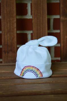 Baby Rainbow Hat Newborn Loss Rainbow Baby by luluandthepeanuts