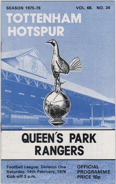 Vintage Football Programme - Tottenham Hotspur v Queen's Park Rangers, 1975/76 season, by DakotabooVintage, £3.99
