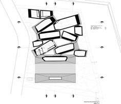 Image 29 of 33 from gallery of ORDOS 100 MOS Architects. second floor plan Office Interior Design, Office Interiors, Mos Architects, Solar Chimney, Architecture Plan, Second Floor, Floor Plans, How To Plan, Gallery