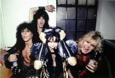W.A.S.P. hanging out backstage the Lyceum 1984  #HappyAnniversary #wasp #Lyceum  #RandyPiper #SteveRiley #BlackieLawless #ChrisHolmes #wasp