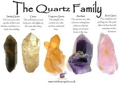 Crystal healing poster sharing my perspective on the properties of the Quartz gr. - Crystal healing poster sharing my perspective on the properties of the Quartz group of crystals -