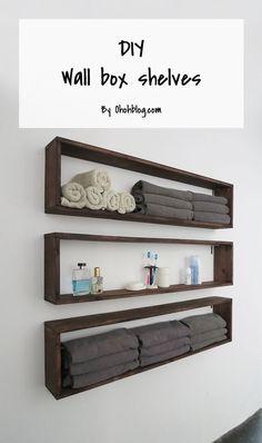 Wall shelves for my bathroom