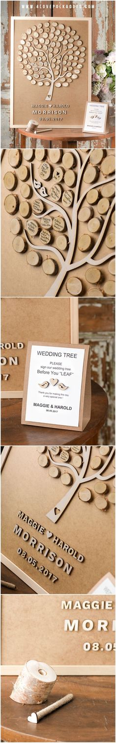 Tree with wooden slices to sign. Maybe we can use wood from the trees we chop down.