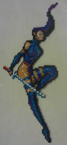 X-Men Clone Wars Perler Art - Psylocke by Bead Patterns, Stitch Patterns, Geek Perler, Psylocke, Xmen, Clone Wars, Perler Beads, Pixel Art, Projects To Try