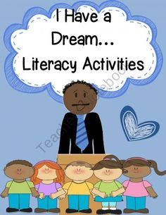 I Have a Dream{MLK Interactive Literacy & Art Activities} product from Engaging-Lessons on TeachersNotebook.com
