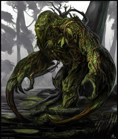 Creature Spot - The Spot for Creature Art, Artists and Fans - Classic Monsters Forest Creatures, Woodland Creatures, Fantasy Creatures, Mythical Creatures, Fantasy Forest, Dark Fantasy, Creature Feature, Creature Design, Plant Monster