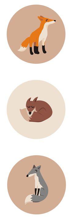 Pattern design - foxes on Behance Foxes, Pattern Design, Behance, Symbols, Illustrations, Art, Art Background, Illustration, Kunst