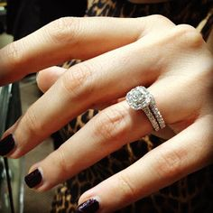 Double Halo Cushion Cut Engagement Ring Love Wedding