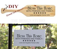 $10.00 Bless This Home Religious Wall Decal DIY by NancysDesignStudio