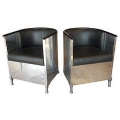 A Pair Of Mats Theselius Chairs, Model 201