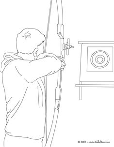 Archery Coloring Page More Sports Pages On Hellokids