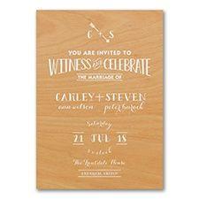 Rustic Celebration - Invitation - Wedding Invitation