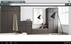 Wardrobe with sitting unit from Montana.dk