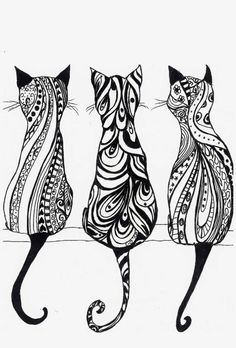 Cats in Art, Illustration and Textiles:Cat Is The New Black - it's a TEA TOWEL! Description from pinterest.com. I searched for this on bing.com/images