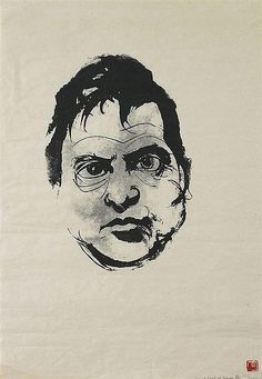 Brett Whiteley - Portrait of Francis Bacon