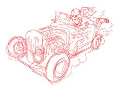 bonnie and clyde - wip1 by ALEX SOLIS, via Flickr