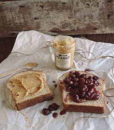 Big Spoon Roasters PB + roasted grapes make for an all-natural PB+J sandwich!