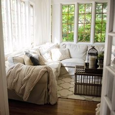 gorgeous sun room with all my favorite things