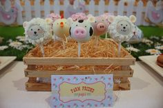 How adorable are these animal-head cake pops?  Source: Kiss Me Kate