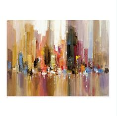 Reflection Of City - Canvas Wall Art Painting - 60x80cm no frame / 01