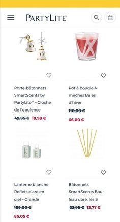 Bougie Partylite, Pots, Black Friday, Fondant, Boutique, Deco, White Lanterns, Scented Candles, Jar Candle