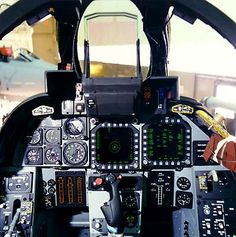 The pilot's instrument panel in an F-14D. - Image - Airforce Technology