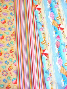 Amerikanischer Designer Stoff mit Strandleben. Zu finden bei www.phantasiali.de