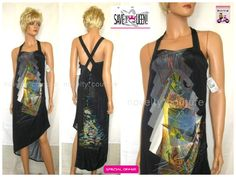 $179.99 (original Price $470) SAVE THE QUEEN Cocktail Party Summer Long Dress, T42-44 / XL #SavetheQueen #CocktailDress #NoveltyCouture