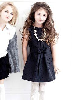 Girls kid fashion black dress