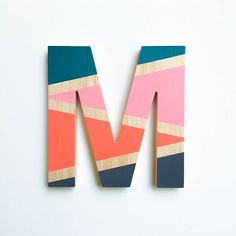 DIY Color Block Letters by A Handcrafted Affair